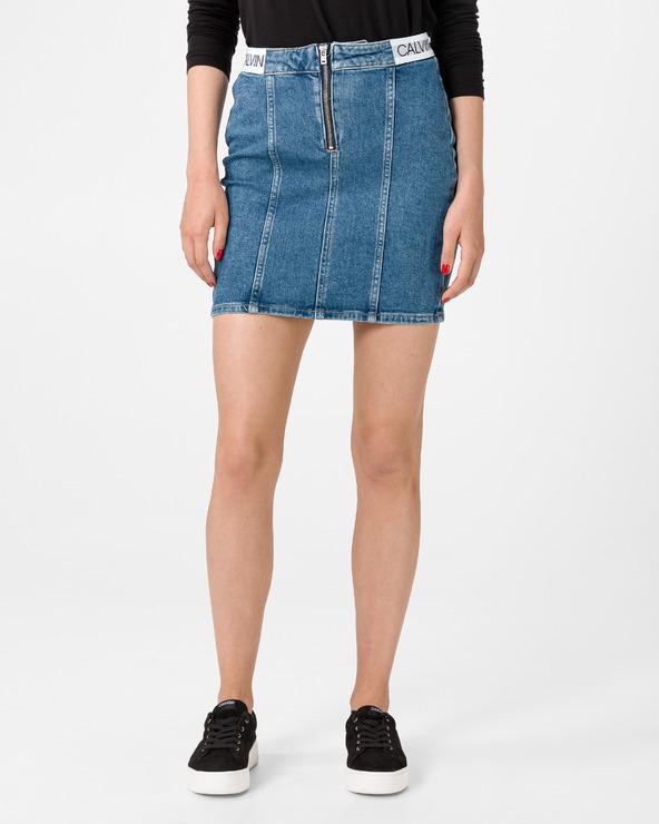 Calvin Klein Dart Skirt Blau