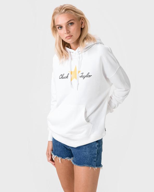 Converse Chuck Taylor Plaid Sweatshirt Weiß