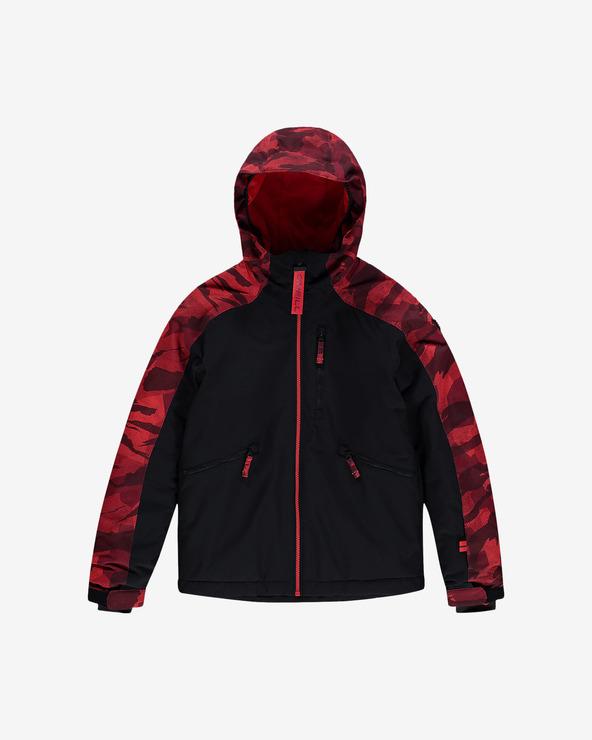 O'Neill Diabase Kids Jacket Schwarz Rot