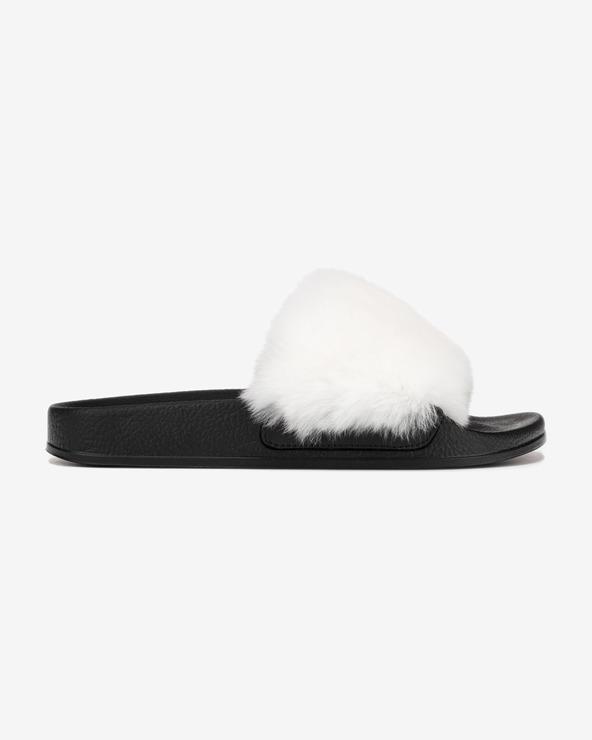 Dolce & Gabbana Pantoffeln Schwarz Weiß