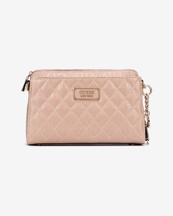 Guess Lola Glossy Logo Umhängetasche Rosa