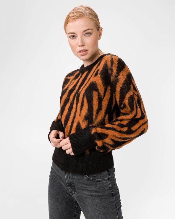 GAS Klizia Zebra Pullover Schwarz Orange
