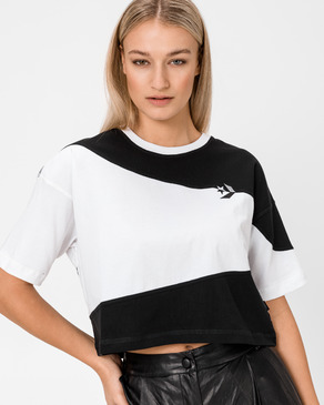 Converse Cut-And-Sew Oversized Cropped Triko