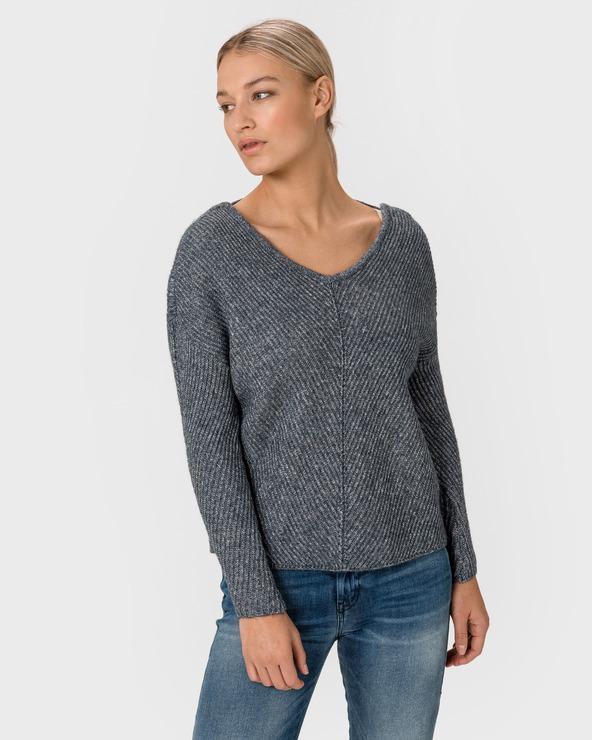 Vero Moda Buena Lena Pullover Blau Grau