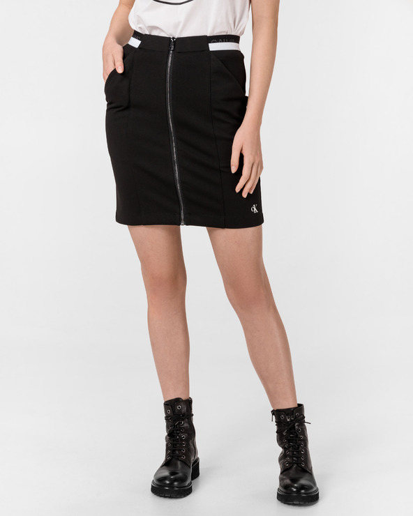 Calvin Klein Milano Monochrome Skirt Schwarz