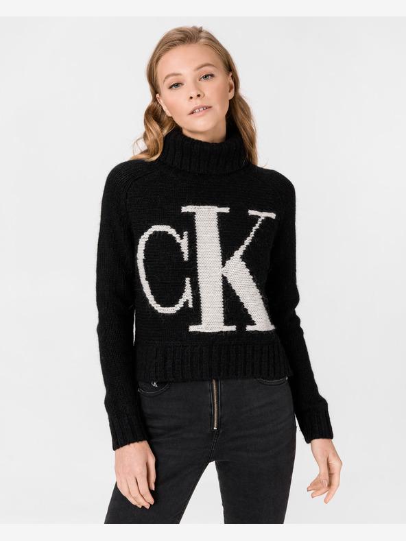 Calvin Klein Logo Pullover Schwarz