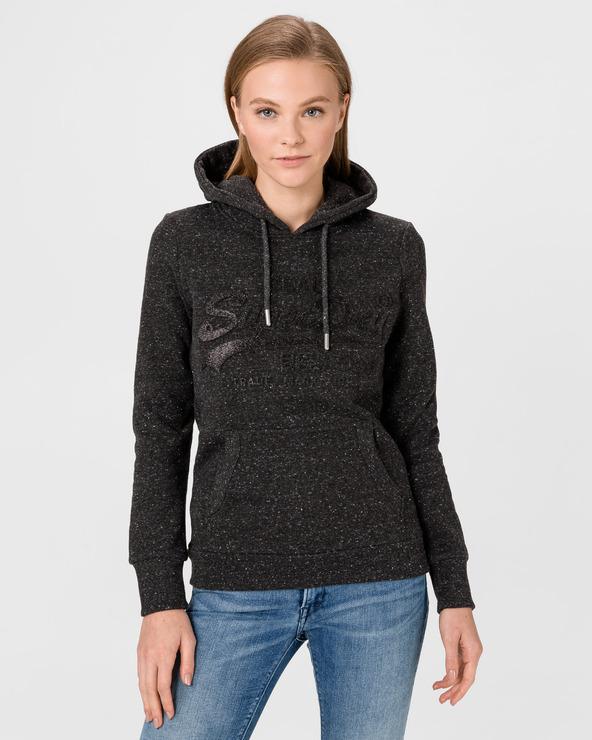 SuperDry Tonal Embossed Sweatshirt Schwarz
