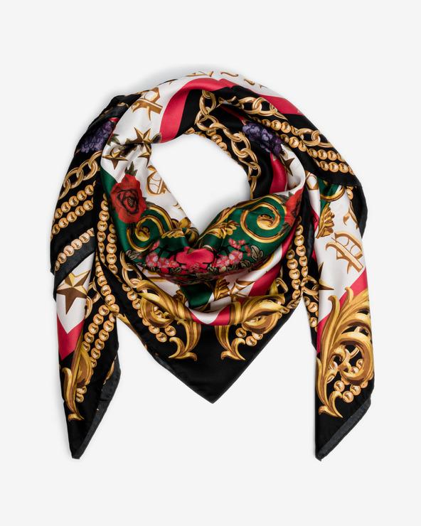 Philipp Plein Black Baroque Halstuch mehrfarben