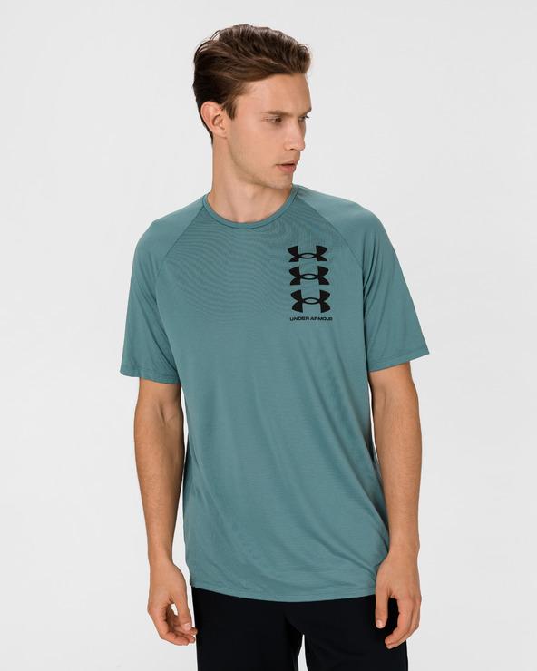 Under Armour Triple Logo Tech Tricou Albastru Verde