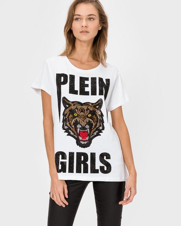 Philipp Plein Kitty Cat T-Shirt Weiß