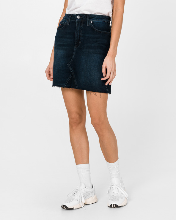 Tommy Jeans Raw Hem Skirt Blau