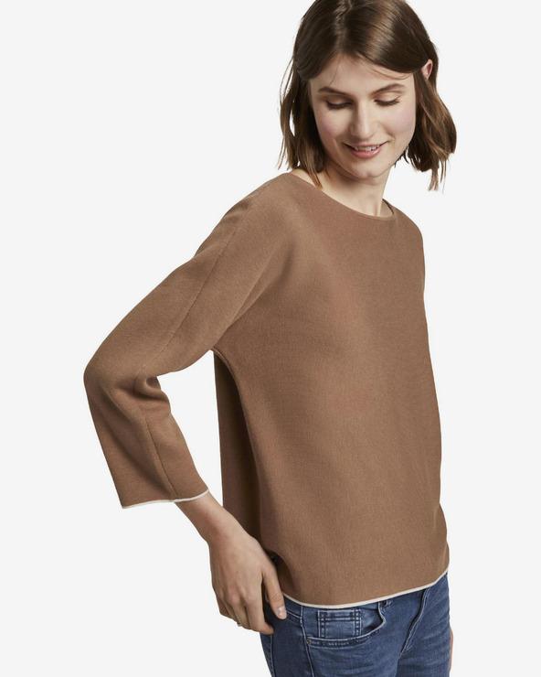 Tom Tailor Basic Pullover Braun