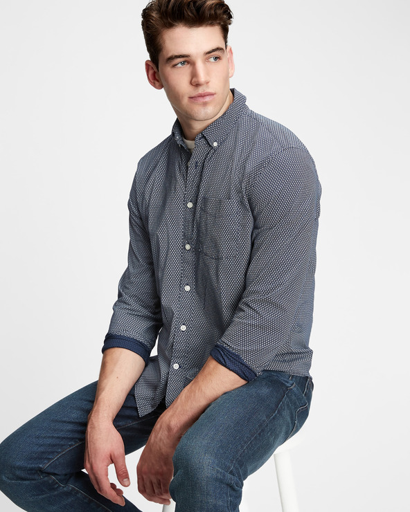 GAP Hemd Blau Weiß