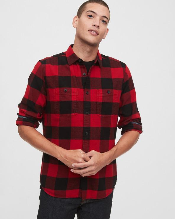 GAP Hemd Schwarz Rot