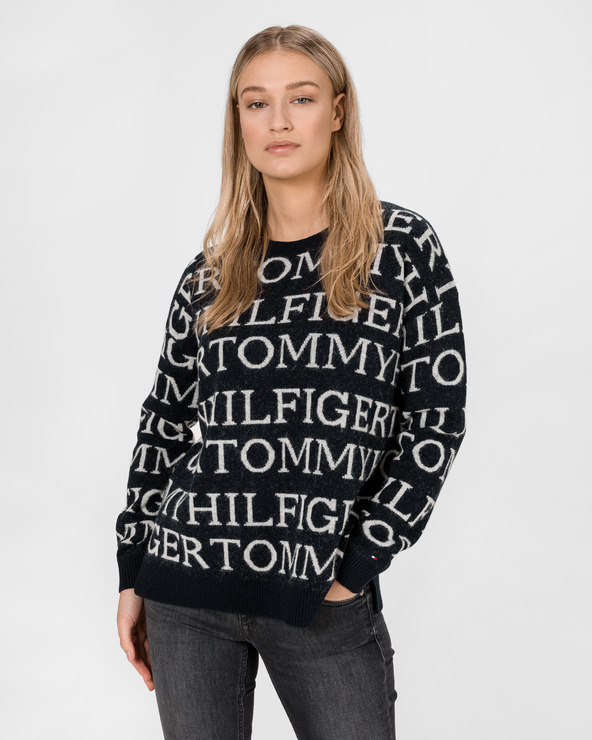 Tommy Hilfiger All-Over Pullover Blau