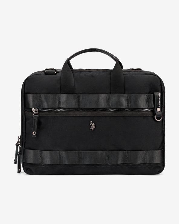 U.S. Polo Assn New Waganer Bussiness Tasche Schwarz