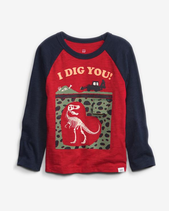 GAP Tricou pentru copii Albastru Roșu