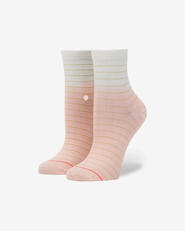 Stance Dip Toe Lowrider Socken Rosa Beige
