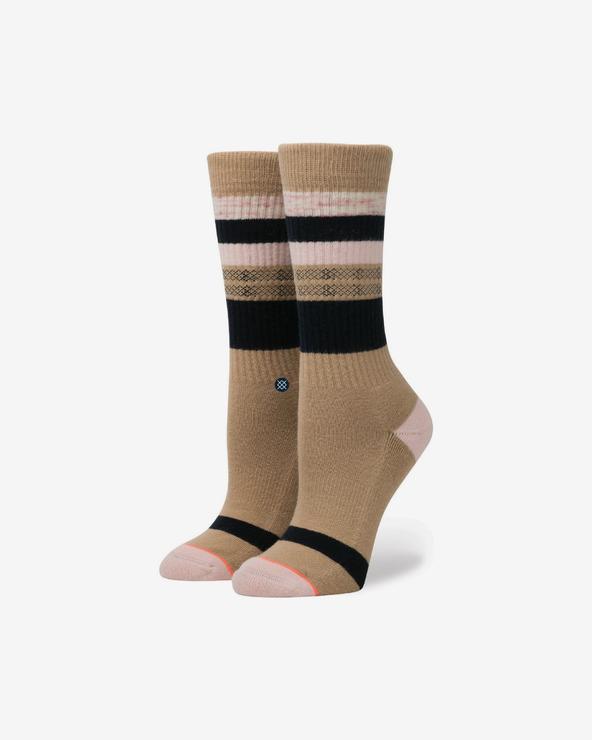 Stance Pintuck Socken Braun
