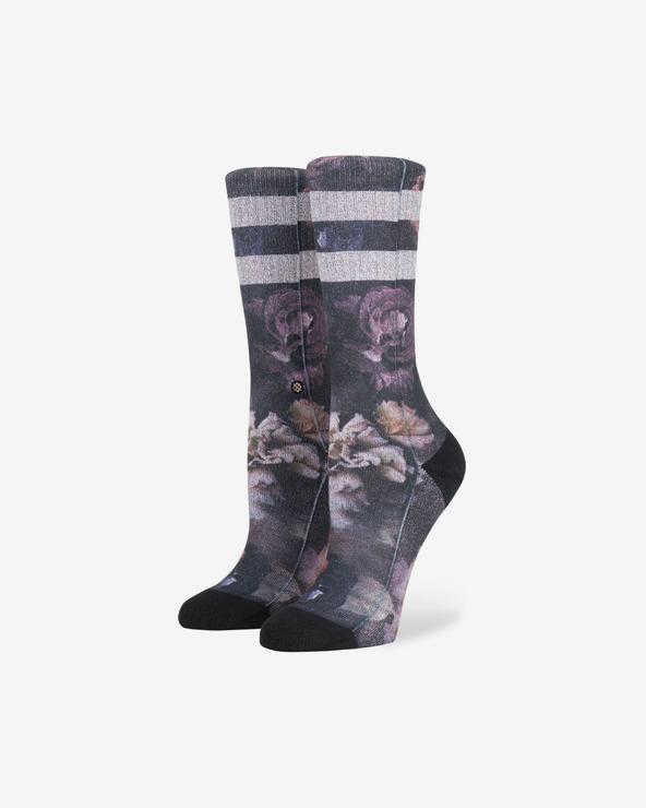Stance Dark Blooms Crew Socken Grau Lila