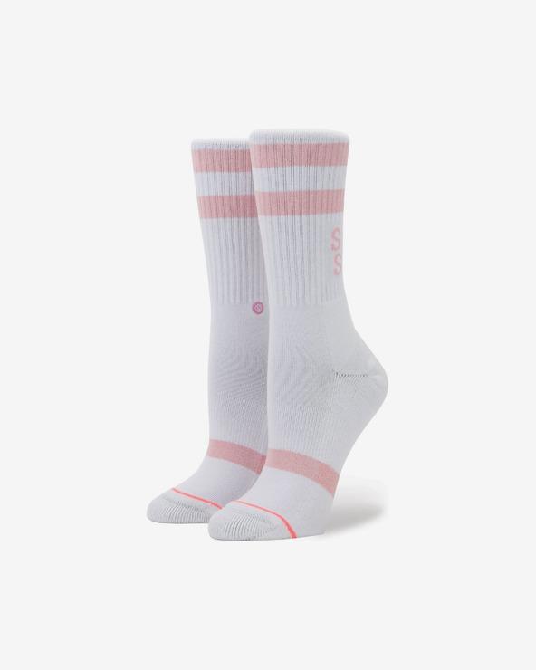Stance Stay Sick Socken Rosa Weiß