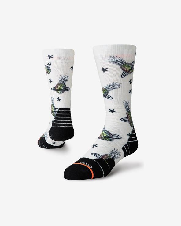 Stance Pinapple Planet Snow Socken Schwarz Weiß