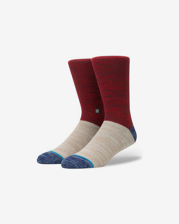 Stance Reserve Socken Rot Beige