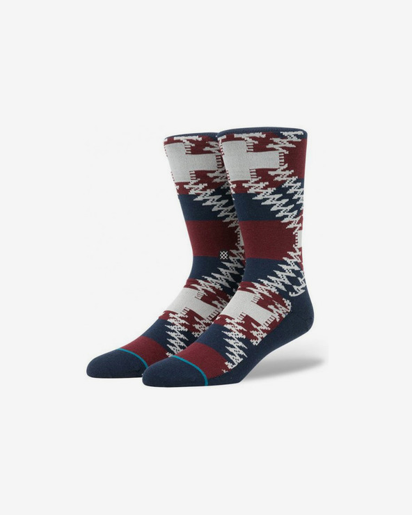 Stance Mustang Socken Blau Rot