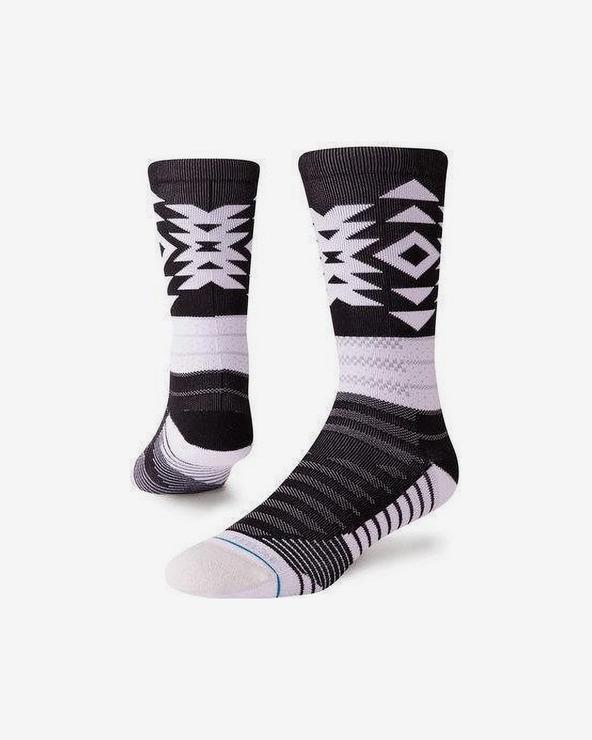 Stance Distance Socken Schwarz Weiß