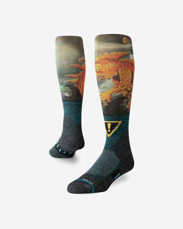 Stance Lizard Lou Socken Blau Gelb