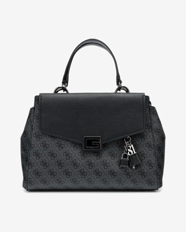 Guess Valy Large Handtasche Schwarz Grau