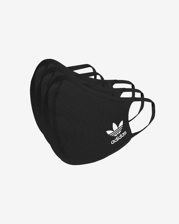 adidas Originals Face mask 3 pcs Schwarz