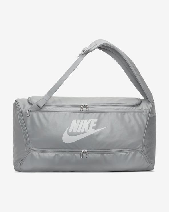 Nike Brasilia Convertible Duffle Tasche Grau