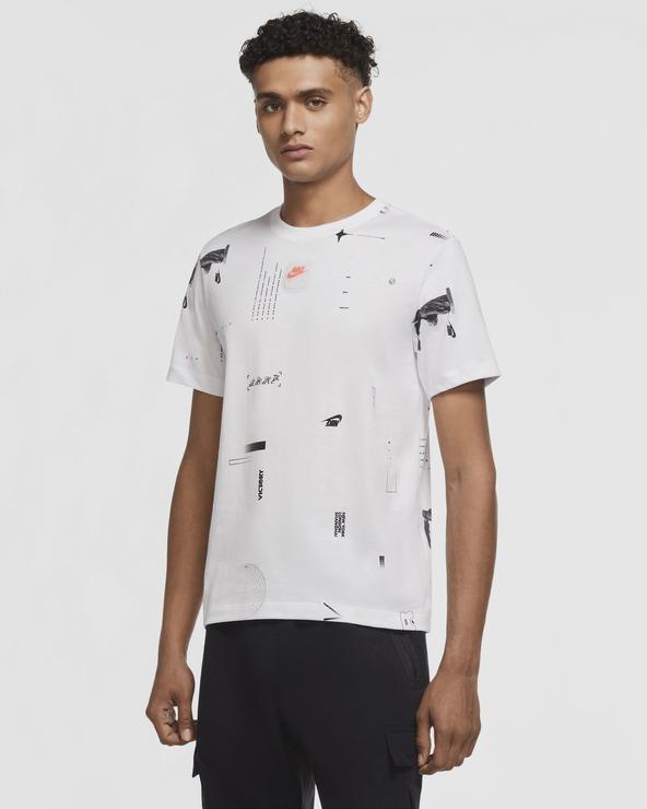 Nike Sportswear Music All Over Print T-Shirt Weiß