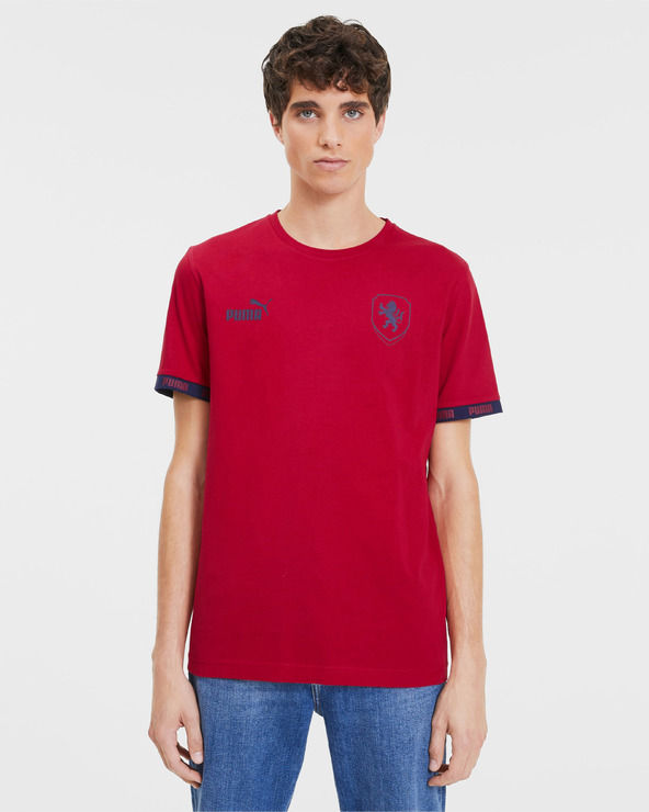 Puma Česká Republika Football Culture T-Shirt Rot