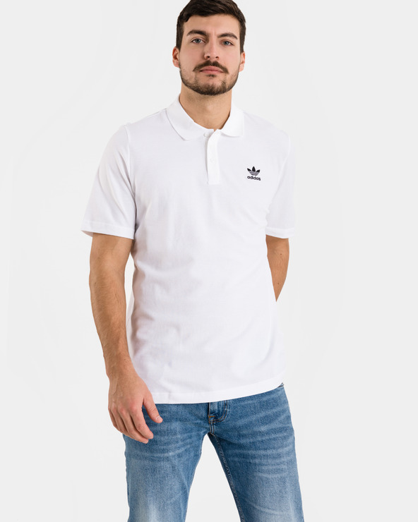 adidas Originals Essentials Polo T-Shirt Weiß