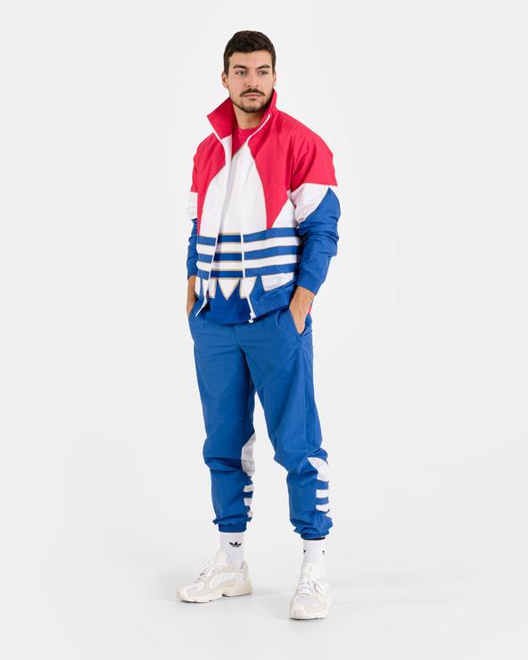 adidas Originals Big Trefoil Outline Woven Colorblock Jacket Blau Rot