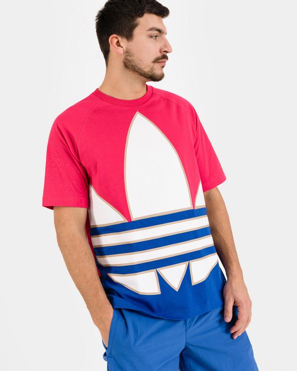 adidas Originals Big Trefoil Colorblock T-Shirt Rot