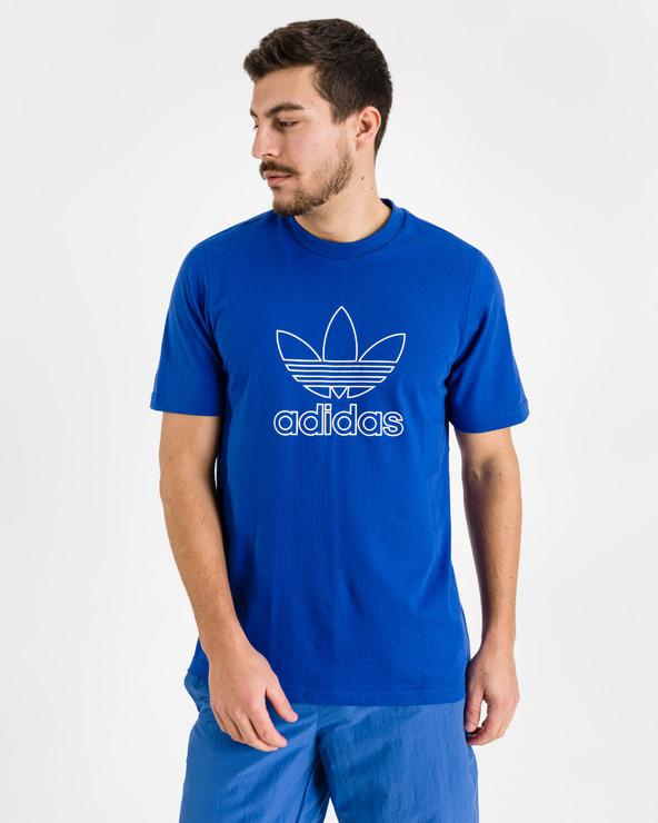 adidas Originals Logo Outline T-Shirt Blau