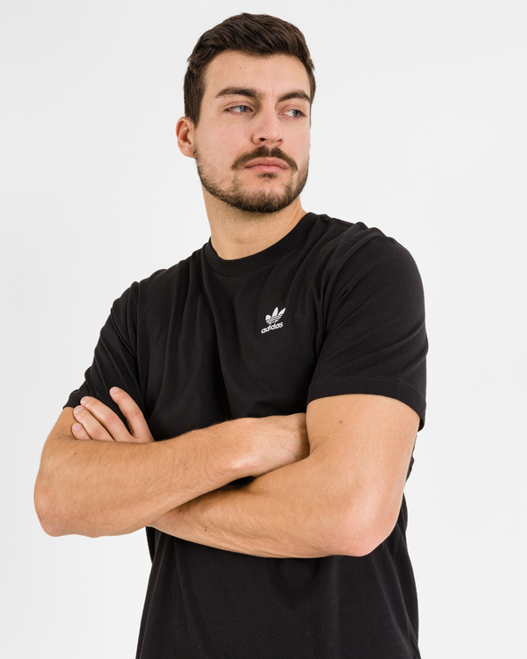 adidas Originals Trefoil Essentials T-Shirt Schwarz
