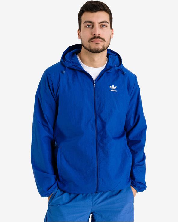 adidas Originals Trefoil Essentials Windbreaker Jacket Blau