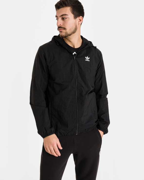adidas Originals Trefoil Essentials Windbreaker Jacket Schwarz