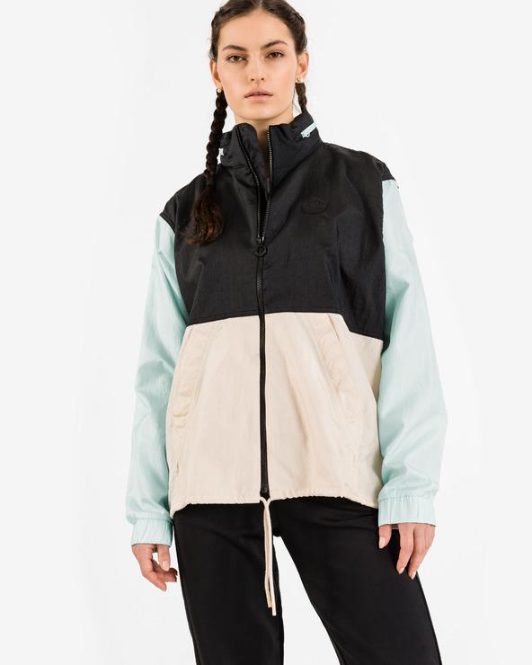 adidas Originals Blocked Windbreaker Jacket Schwarz Blau