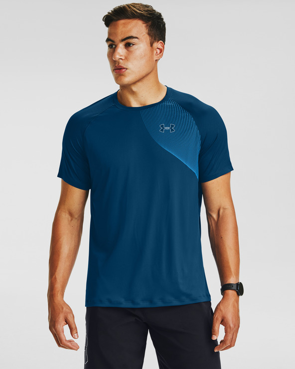 Under Armour Qualifier Iso-Chill Run T-Shirt Blau