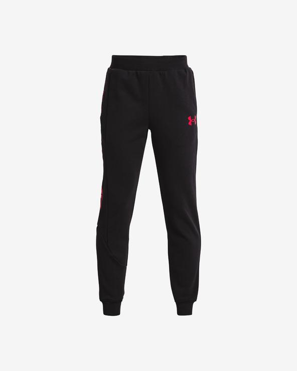Under Armour Baseline Fleece Pantaloni de trening pentru copii Negru