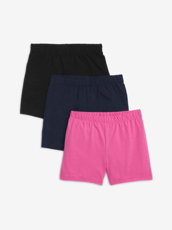 GAP Pantaloni scurți pentru copii 3 buc Negru Albastru Roz