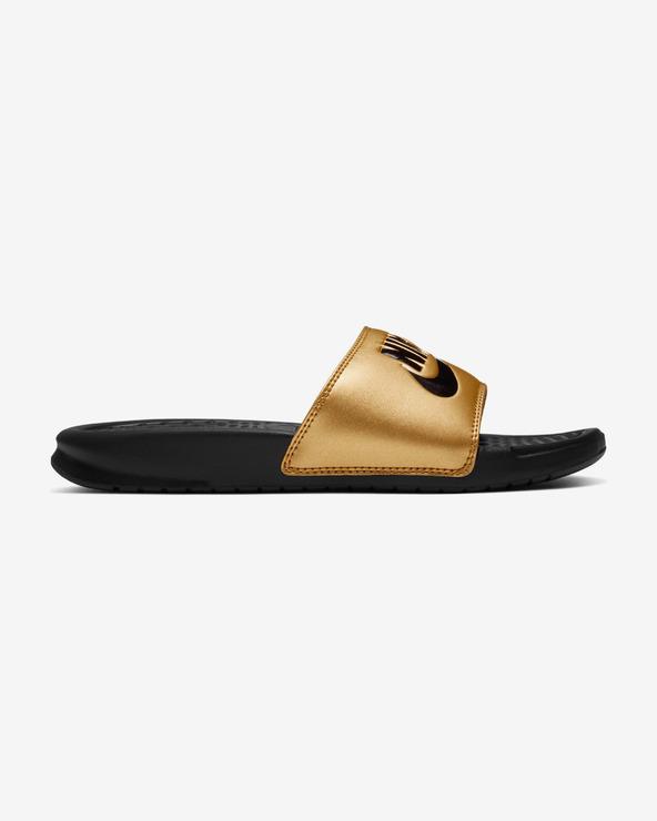 Nike Benassi JDI Pantoffeln Schwarz Gold