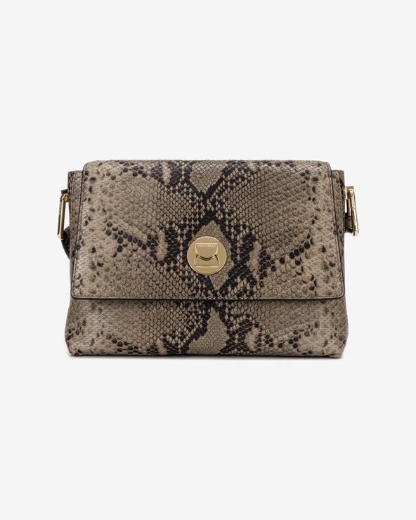 Coccinelle Liya Python Handtasche Braun