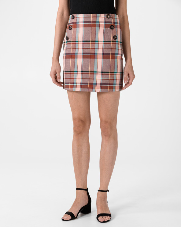 Tommy Hilfiger Blend Check Mini Skirt Rosa