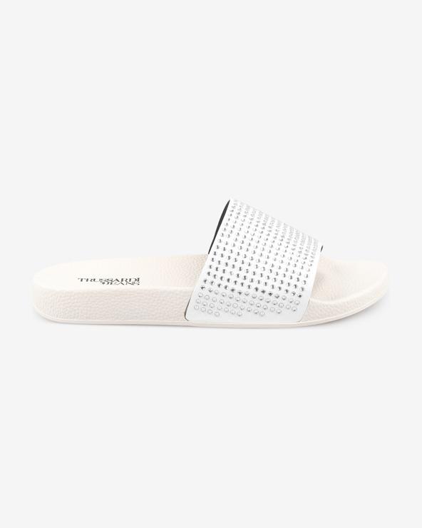Trussardi Jeans Pantoffeln Weiß